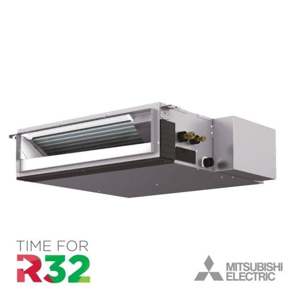 Mitsubishi kanaal-unit Airconditioning met R32 koelmiddel logo