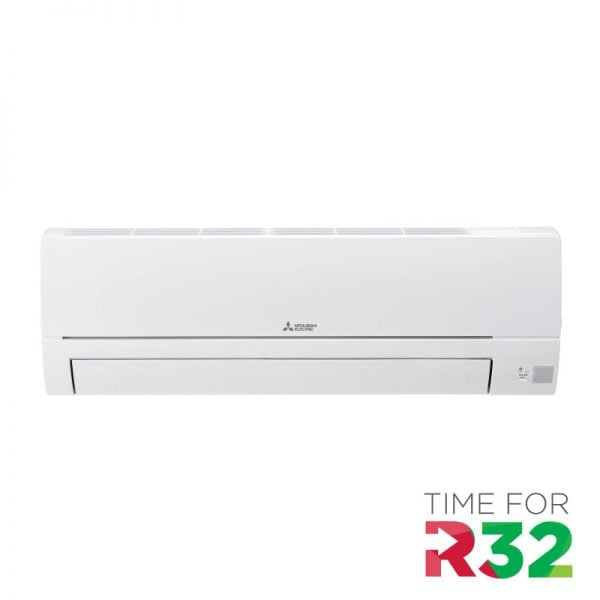 Mitsubishi Electric Airconditioning wand-unit met R32 koelmiddel logo
