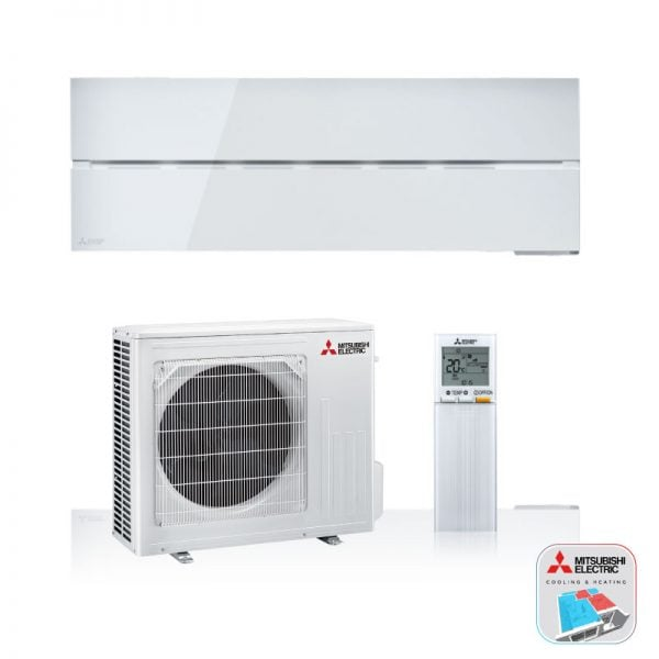 Mitsubishi Electric Airconditioning wand-unit in parel wit
