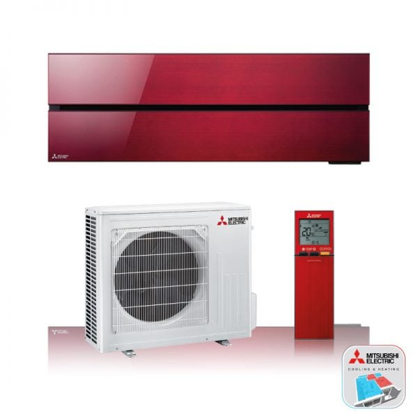 Mitsubishi Electric Airconditioning wand-unit in het rood