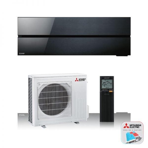 Mitsubishi Electric Airconditioning wand-unit in het zwart