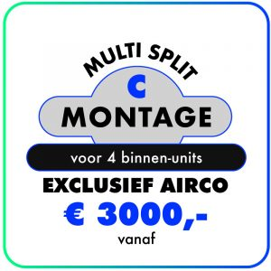 Montage (Multi split voor 4 binnen-units)