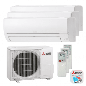Mitsubishi Electric WTXH-HA50 VF – Multi split – Wand-unit – 5,0 kW (met 3 binnen units)