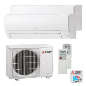 Mitsubishi Electric WDXH-HA40 VF – Multi split – Wand-unit – 4,0 kW (met 2 binnen units)