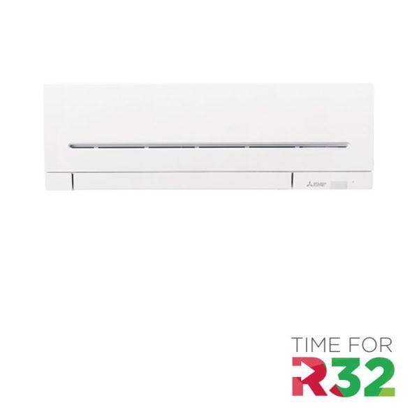 Mitsubishi Electric Wand-unit met R32 logo
