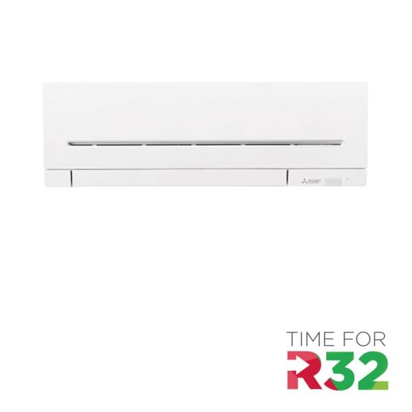 Mitsubishi Electric wand unit met R32 logo