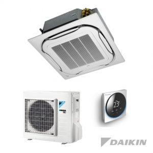 Daikin FCAG35B+RXM35N9 Cassette-unit – 3,5 kW – Standaardpaneel wit
