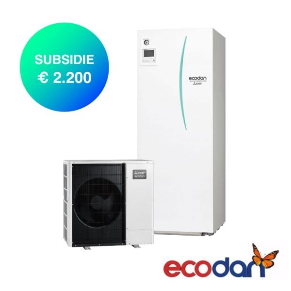 Mitsubishi Electric Lucht-water warmtepomp met 2200 euro subsidie