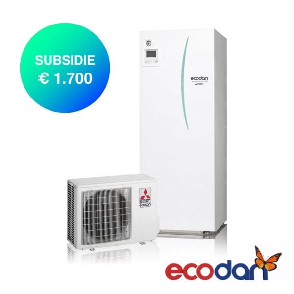 Mitsubishi Electric Lucht-water warmtepomp met 1700 euro subsidie