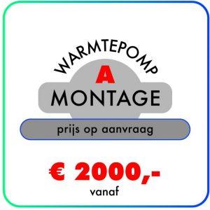 Montage (Warmtepomp) prijs op aanvraag