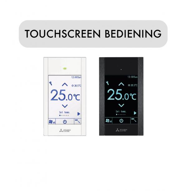 Touchscreen bediening voor airco