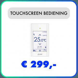 Touchscreen bediening PAR-CT01 MAA-S Mitsubishi Electric