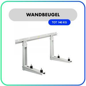 Rodigas Wandbeugel MS220 – montage rail 0,8m – 465mm – 140kg