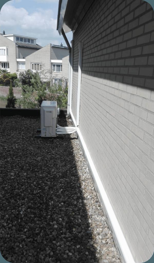 airco installatie leidinggoot 123klimaatshop