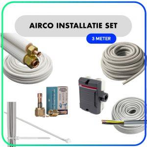 """Airco installatie set – 1/4"""" x 3/8"""" – 3 meter"""