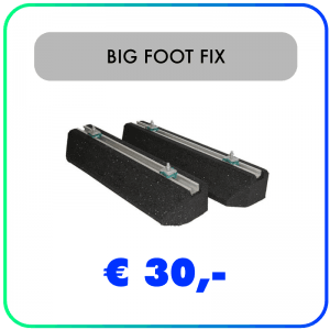 Big Foot Fix-it balken rubber – 400 x 180 x 95mm – 128kg (set van 2) – Extra module
