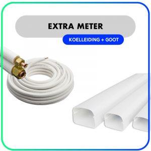 Extra koelleiding + leidinggoot per meter – Inclusief montage