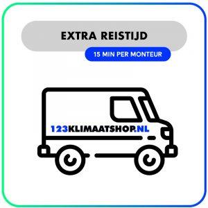 Extra reistijd – 15 min per monteur