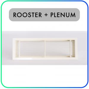 Wand- en kanaalrooster – Retour rooster – Inclusief plenum