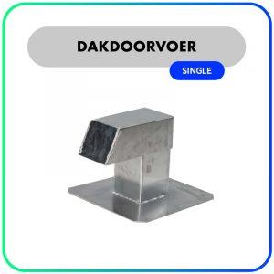 AircoExit Aluminium Dakdoorvoer – Single – 120 x 120 x 260 mm