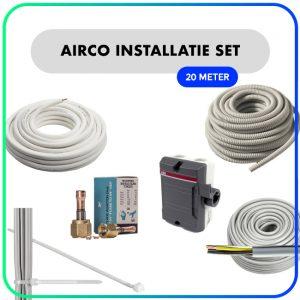 """Airco installatie set – 1/4"""" x 3/8"""" – 20 meter"""