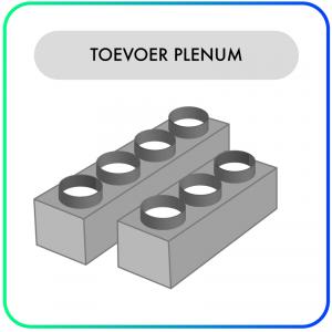 Toevoer Plenum – TV – 2/3/4/5/6 – Aansluitingen van 160/200mm