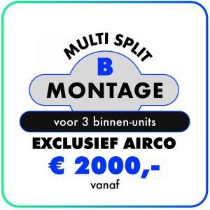 Montage (Multi split met 3 binnen units)