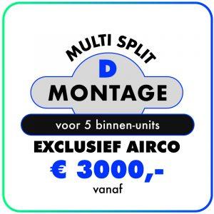 Montage (Multi split met 5 of meer binnen units)