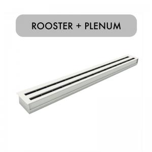 Lijnrooster – Retour / Toevoerrooster – Inclusief plenum