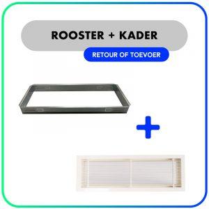 Wand- en kanaalrooster – Retour / Toevoerrooster – Inclusief kader