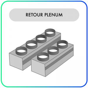 Retour Plenum – RT3-200A – 3 aansluitingen van 200mm