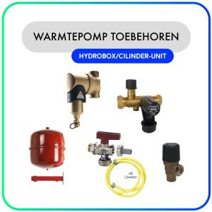 Warmtepomp toebehoren set voor Hydrobox/Cilinder-unit met buffer & boiler (Lucht-water)