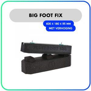 Big Foot Fix-it balken rubber – 600 x 180 x 95mm – Met verhoging (set van 2)